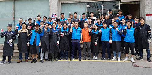 Hyosung TNS raises the awareness of social contributions through its 'briquette delivery' efforts