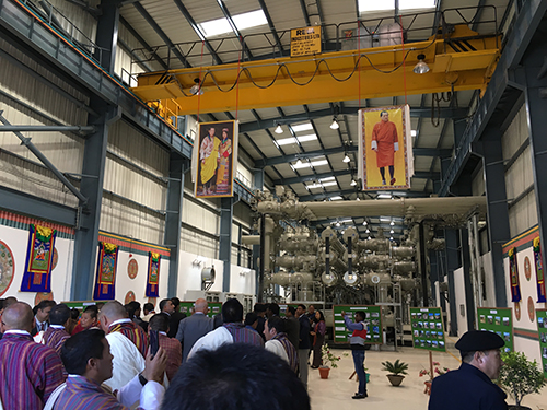 The circuit breaker division of Hyosung's Power Systems PU participates in the ribbon-cutting ceremony for the Jigmeling 400kV GIS substation in Bhutan