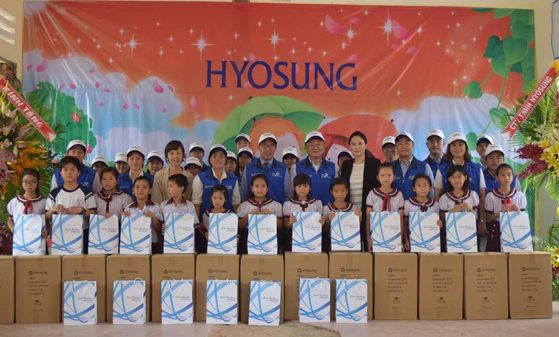 효성, 효성챔피언십 모금 기금으로 베트남에 도서관 기증